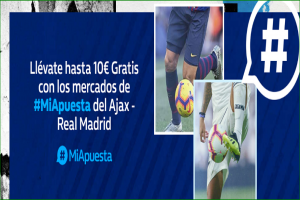 William Hill: Ajax vs. Real Madrid. #MiApuesta Llévate 10€ GRATIS