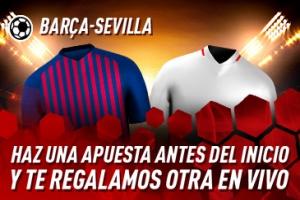 Sportium: Barça vs. Sevilla. Haz una apuesta y te regalamos otra