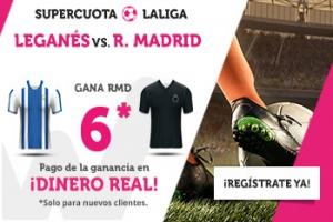 Wanabet: Leganés vs. Real Madrid @6.0 + 200€
