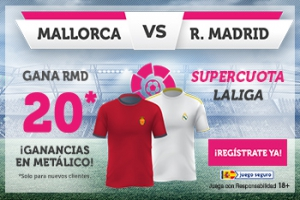 Wanabet: Mallorca vs. Real Madrid @20.0 + 100€