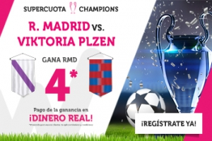 Wanabet: R. Madrid @4.0 vs. Viktoria Plzen   + 200€