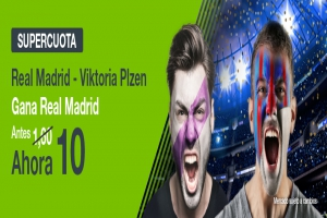 Codere: Supercuota Real Madrid vs. Viktoria Plzen + 350€