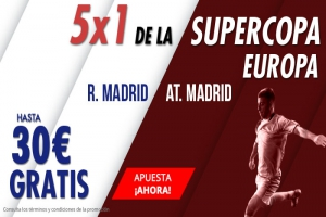Suertia: Supercopa Europa. R. Madrid vs. At. Madrid. Apuesta y llévate hasta 30€ GRATIS