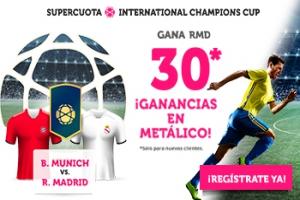 Wanabet: Bayern Munich vs Real Madrid @30.0 + 100€