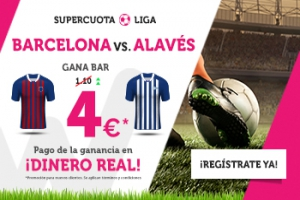 Wanabet: Barça @4.0 vs. Alaves + 200€
