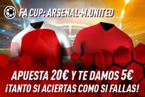 Sportium: Arsenal vs. Liverpool. Haz tú apuesta y te damos 5€ ¡¡¡GRATIS!!!