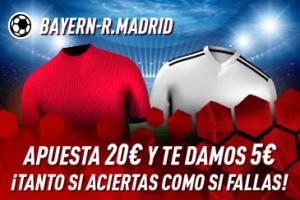Sportium: Bayern Munich vs. Real Madrid. Haz tú apuesta y te damos 5€ ¡¡¡GRATIS!!!