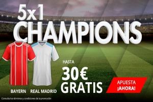 Suertia: Bayern vs Madrid. Haz tu apuesta y llévate hasta 30€ GRATIS