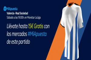 William Hill: Valencia vs. Real Sociedad. #MiApuesta Llévate 15€ GRATIS