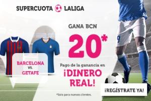 Wanabet: FC Barcelona @20.0 vs. Getafe + 200€