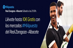 William Hill: Zaragoza vs. Albacete. Hasta 10€ sin riesgo