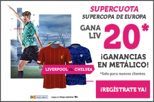 Wanabet: Liverpool @20.0 vs. Chelsea + 100€