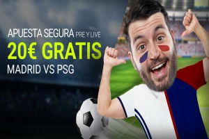 Luckia: PSG vs. Real Madrid. Apuesta segura