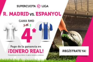 Wanabet: Real Madrid @4.0 vs. Espanyol + 200€