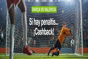 Codere: FC Barcelona vs. Valencia. Si el partido se decide en los penaltis ¡¡¡DEVOLUCIÓN!!!