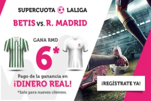 Wanabet: Betis vs. R. Madrid @6.0 + 200€