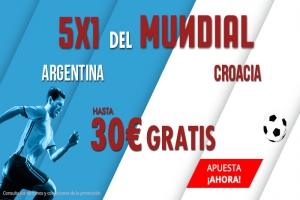 Suertia: Argentina vs. Croacia. Apuesta y llévate hasta 30€ GRATIS