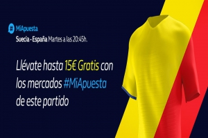 William Hill: Suecia vs. España. #MiApuesta Llévate 15€ GRATIS
