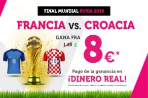 Wanabet: Francia @8.0 vs. Croacia + 200€