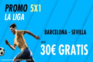 Suertia: FC Barcelona vs. Sevilla. Haz tu apuesta y llévate hasta 30€ GRATIS