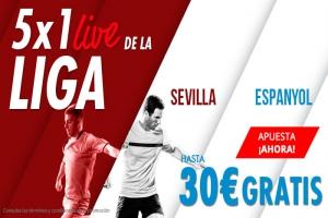 Suertia: Sevilla vs. Espanyol. Apuesta y llévate hasta 30€ GRATIS apostando en vivo