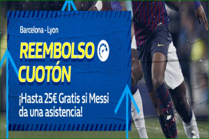 William Hill: Barça vs. Lyon. Devolución de hasta 25€