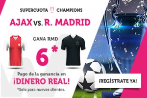 Wanabet: Ajax vs. Real Madrid @6.0 + 200€