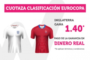 Wanabet: Inglaterra @1.40 vs. Rep. Checa