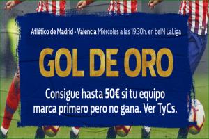 William Hill: At. Madrid - Valencia. Llévate hasta 50€ si tu equipo pierde