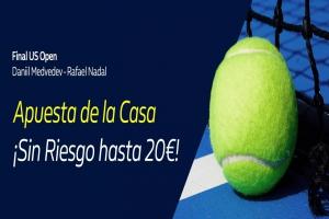 William Hill: Daniil Medvedev vs. Rafael Nadal. Hasta 20€ sin riesgo