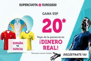 Wanabet: España @20.0 vs. Suecia + 100€