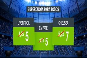 Codere: Liverpool vs. Chelsea. Supercuota para la Supercopa de Europa