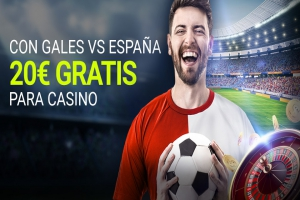 Luckia: Gales vs. España. 5€ GRATIS por cada gol de la roja