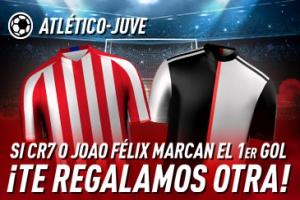 Sportium: At. Madrid vs. Juventus. Si marcan CR7 o Joao Félix el 1er gol ¡Devolución!