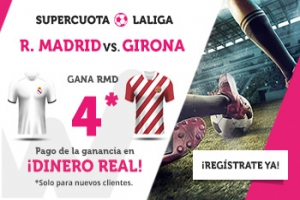 Wanabet: Real Madrid @4.0 vs. Girona + 200€
