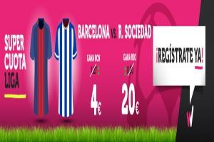Wanabet: ¿Barça @4.0 vs. R. Sociedad @20.0? + 200€