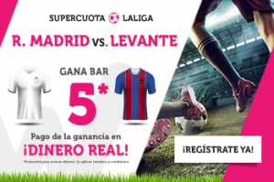 Wanabet: R. Madrid @6.0 vs. Levante + 200€