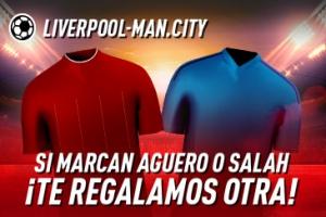 Sportium: Liverpool vs. Man. City. Si marcan Agüero o Salah ¡Te damos otra!