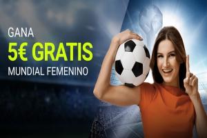Luckia: Mundial Femenino. Llévate 5€ GRATIS
