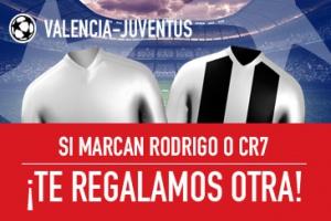 Sportium: Valencia vs. Juventus. Si marcan Rodrigo o CR7 ¡Devolución!