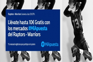 William Hill: Warriors vs. Raptors (Game 3). #MiApuesta Llévate 10€ GRATIS