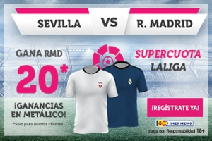 Wanabet: Sevilla vs. Real Madrid @20.0 + 100€