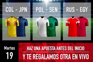 Sportium: Mundial – Martes 18. Haz una apuesta y te regalamos otra 'en-vivo'