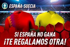 Sportium: España vs. Suecia. Si los nuestros no ganan ¡Devolución!