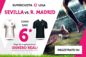 Wanabet: Sevilla vs. Real Madrid @6.0 + 200€