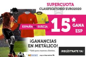 Wanabet: Suecia vs. España @15.0 + 100€