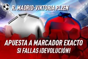 Sportium: R.Madrid vs. V.Pilsen. Apuesta a 'Marcador Exacto'… Si fallas ¡Devolución!