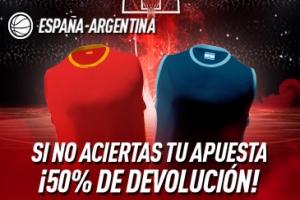 Sportium: España vs. Argentina. Si fallas 50% DEVOLUCIÓN