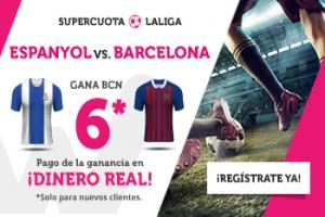 Wanabet: Espanyol vs. Barça @6.0 + 200€