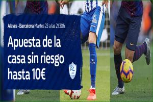 William Hill: Alavés vs. FC Barcelona. Hasta 10€ sin riesgo